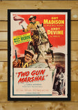 Brand New Designs, Two Gun Marshal | Retro Movie Poster, - PosterGully - 2