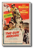 Wall Art, Two Gun Marshal | Retro Movie Poster, - PosterGully - 3