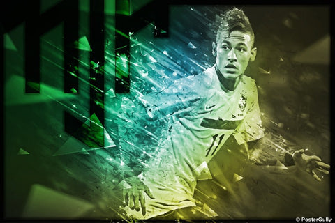 Wall Art, Neymar | Brazil Football Team Rendition, - PosterGully