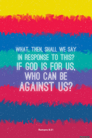 Wall Art, Romans 8-31-God And Us, - PosterGully - 1