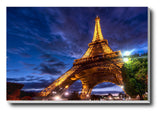 Canvas Art Prints, Eiffel Tower Paris Stretched Canvas Print, - PosterGully - 1