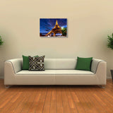 Canvas Art Prints, Eiffel Tower Paris Stretched Canvas Print, - PosterGully - 3