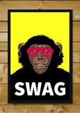 Brand New Designs, Swag Monkey Humour, - PosterGully - 2
