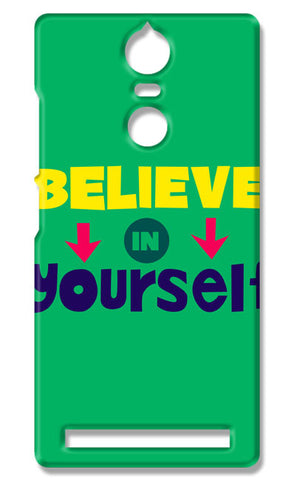 Believe In Yourself Typography | Lenovo K5 Note Cases
