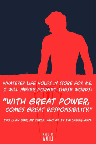 Brand New Designs, Amazing Spiderman Quote Artwork | Artist: Anuj Agarwal, - PosterGully