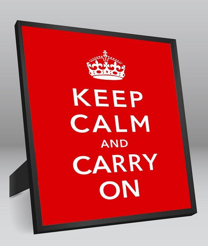 Framed Art, Keep Calm & Carry On Framed Art Print, - PosterGully - 1