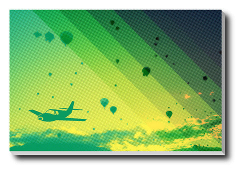 Canvas Art Prints, Abstract Flight Stretched Canvas Print, - PosterGully - 1