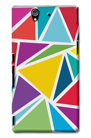 Abstract Colorful Triangles | Sony Xperia Z3 Cases