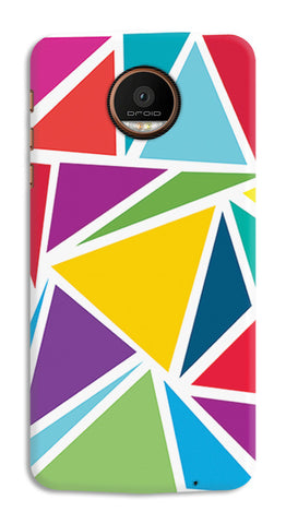 Abstract Colorful Triangles | Moto Z Force Cases