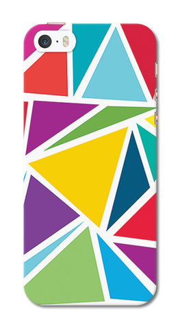 Abstract Colorful Triangles | iPhone SE Cases