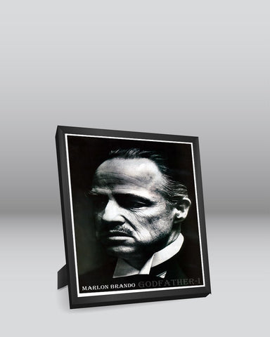 Framed Art, The Godfather Marlon Brando Take 3 Framed Art Print, - PosterGully - 1