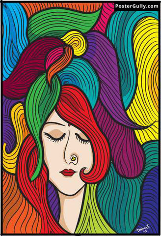 Wall Art, Girl Abstract Artwork | Artist: Dishant Bhatia, - PosterGully