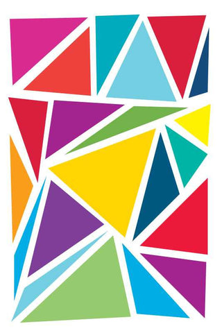 Abstract Colorful Triangles |  PosterGully Specials