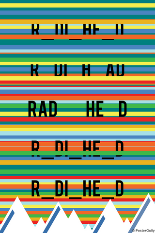 Wall Art, Radiohead Rainbows Kid A, - PosterGully
