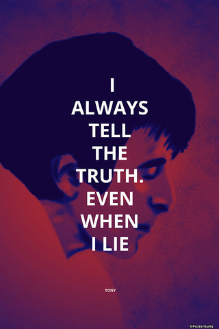 Wall Art, Truth And Lies Scarface, - PosterGully - 1