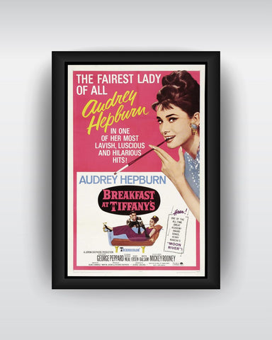 Framed Art, Audrey Hepburn Pink Framed Art Print, - PosterGully - 1