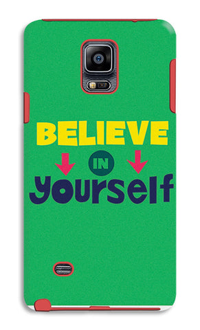 Believe In Yourself Typography | Samsung Galaxy Note 4 Tough Cases