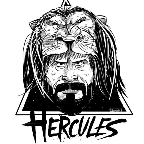 Wall Art, Harcules Black And White Artwork  | Artist: Sachin Sivakumaran, - PosterGully