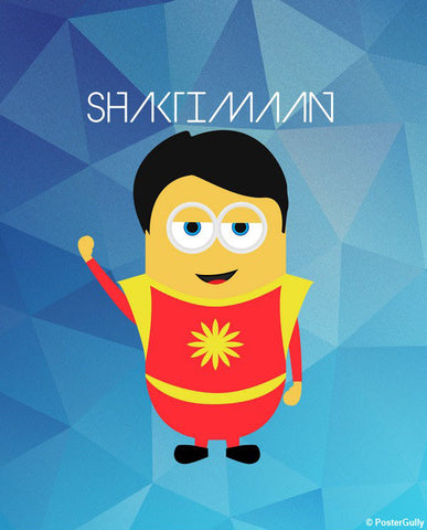 Wall Art, Shaktimaan Wallpaper Artwork | Artist: Akshay Kamble, - PosterGully - 1