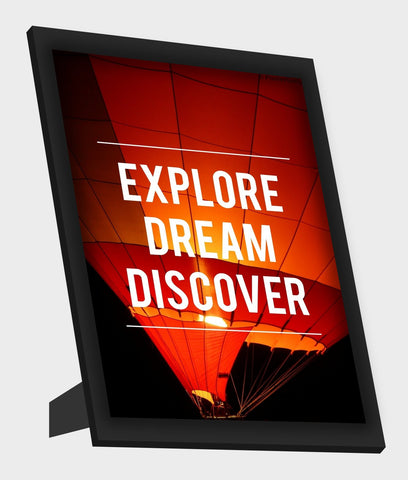 Framed Art, Explore Dream Discover Framed Art, - PosterGully