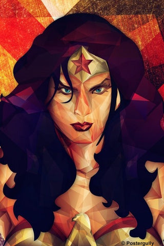 PosterGully Specials, Wonder Woman Geometrical Artwork, - PosterGully