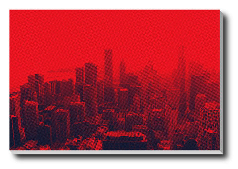 Canvas Art Prints, New York Blood Shot Stretched Canvas Print, - PosterGully - 1