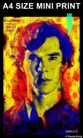 Mini Prints, Sherlock Artwork | By Jaydhrit | Mini Print, - PosterGully