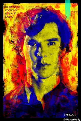 Wall Art, Sherlock Artwork | By Jaydhrit, - PosterGully