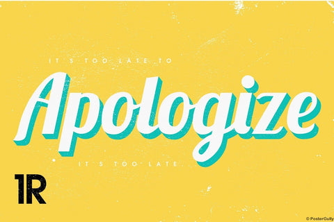 Wall Art, Apologize | One Republic, - PosterGully