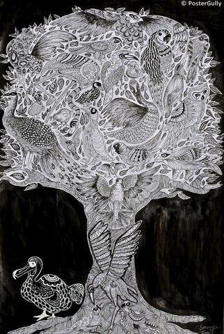 PosterGully Specials, Tree Of Life | Pencil Sketch, - PosterGully