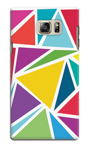 Abstract Colorful Triangles | Samsung Galaxy Note 5 Cases
