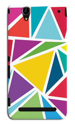 Abstract Colorful Triangles | Sony Xperia T2 Ultra Cases