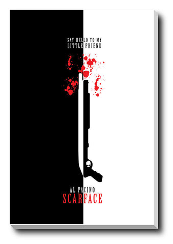 Canvas Art Prints, Al Pacino Scarface Stretched Canvas Print, - PosterGully - 1