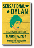 Canvas Art Prints, Bob Dylan Concert Stretched Canvas Print, - PosterGully - 1