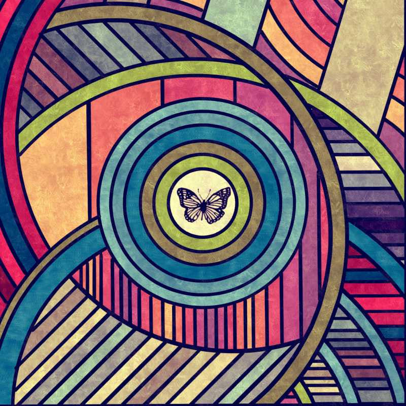 Square Art Prints, Colorful Abstract Artwork  | Artist: Vaibhav Dangwal, - PosterGully