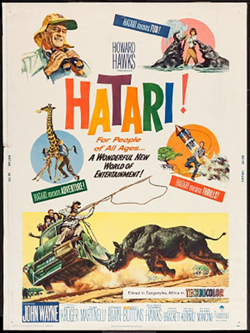 Brand New Designs, Hatari | Retro Movie Poster, - PosterGully - 1
