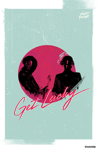 Wall Art, Daft Punk Artwork | Artist: Jaydhrit Sur, - PosterGully - 1