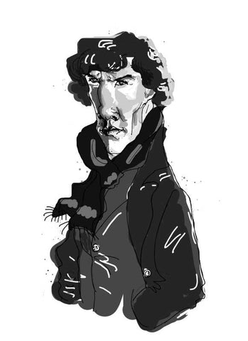 Wall Art, Sherlock Artwork  | Artist: Adrija Ghosh, - PosterGully