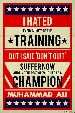 Wall Art, Muhammad Ali | I Hated Training Retro, - PosterGully