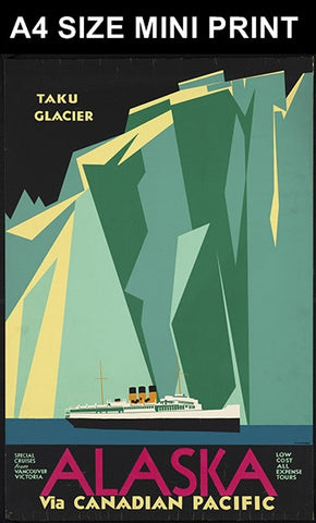 Mini Prints, Alaska Via Canadian Pacific | Mini Print, - PosterGully