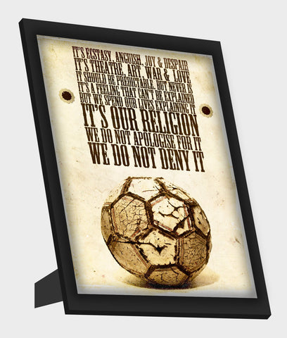 Framed Art, Football is Religion Framed Art, - PosterGully