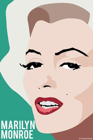 PosterGully Specials, Marilyn Monroe | Pop Teal, - PosterGully
