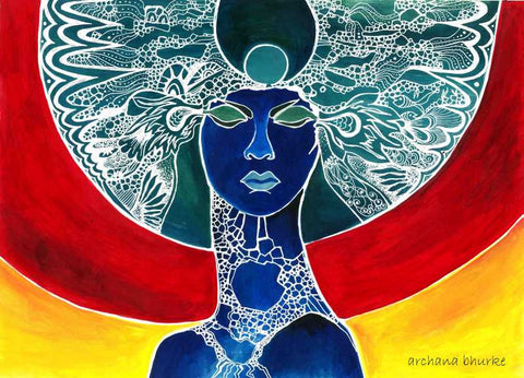 Brand New Designs, Abstract Woman 3 Artwork | Artist: Archana Bhurke, - PosterGully