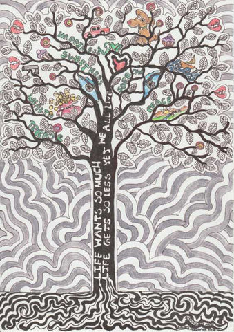Wall Art, Life Tree Artwork  | Artist: Suneera Heloise Mendonsa, - PosterGully