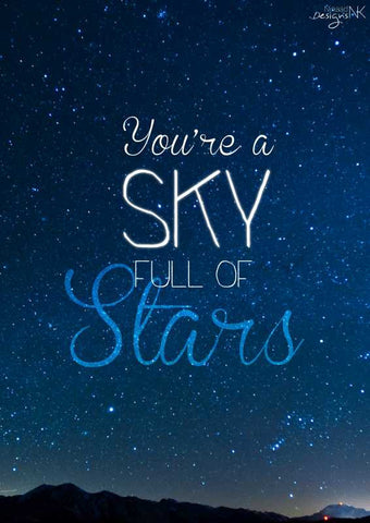 Wall Art, Sky Full Of Stars Artwork | Artist: Ninaad Kothawade, - PosterGully