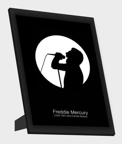 Framed Art, Freddie Mercury Framed Art, - PosterGully