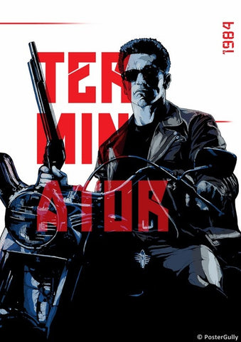 PosterGully Specials, The Terminator Artwork By Manu, - PosterGully