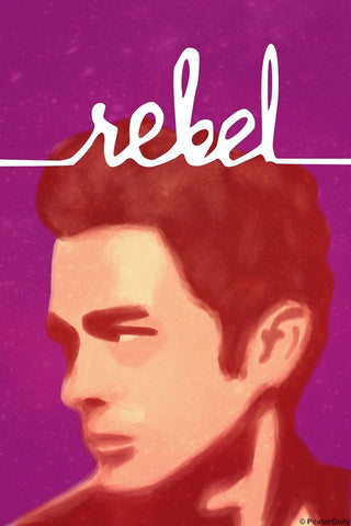 Wall Art, James Dean | Rebel | Minimal, - PosterGully