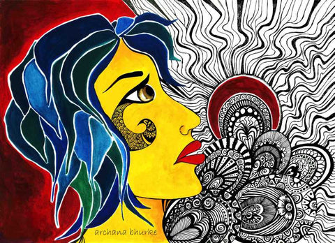 Brand New Designs, Abstract Woman 4 Artwork | Artist: Archana Bhurke, - PosterGully