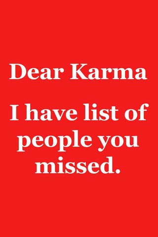 Dear Karma |  PosterGully Specials